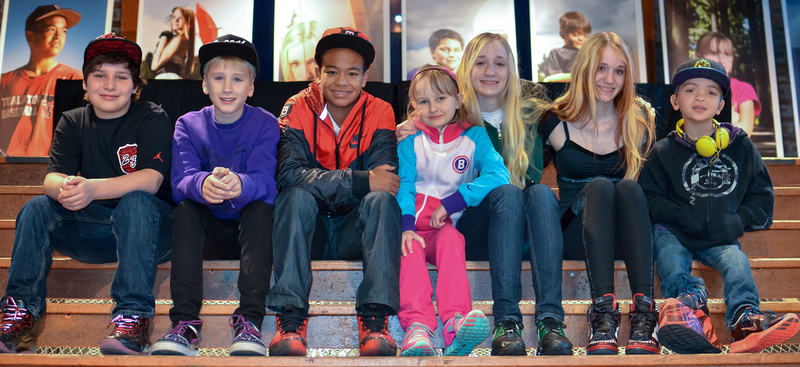 Doernbecher Freestyle X designers during the retail launch at Nike Portland.